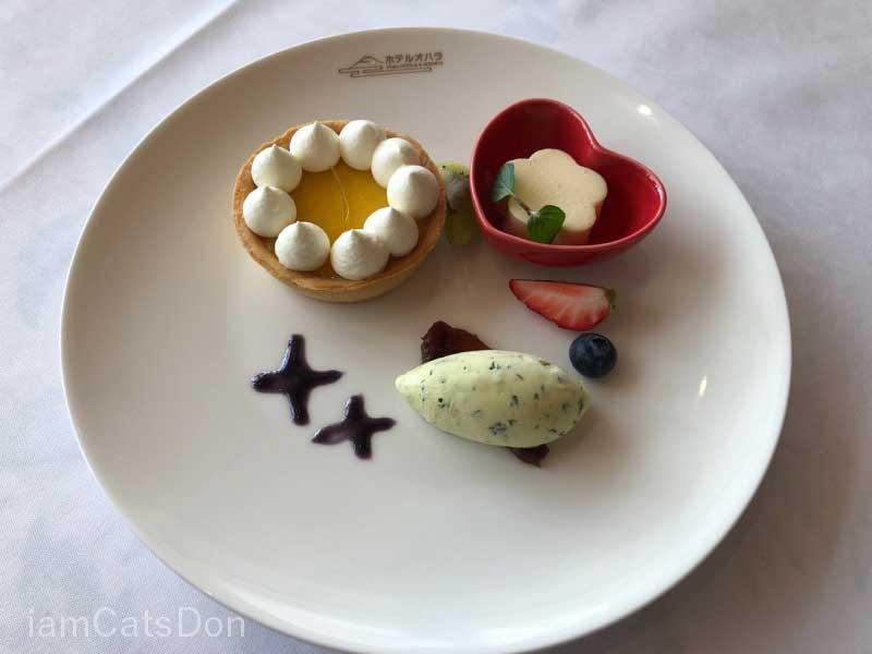 ホテルオハラ ランチ デザート