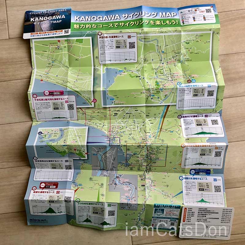 沼津狩野川サイクリングマップ表