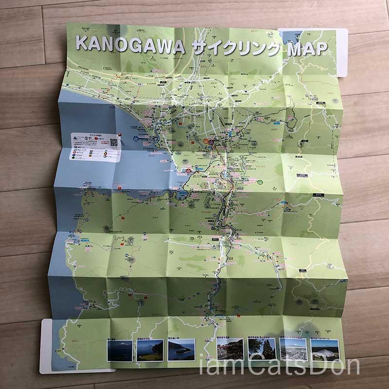 沼津狩野川サイクリングマップ裏