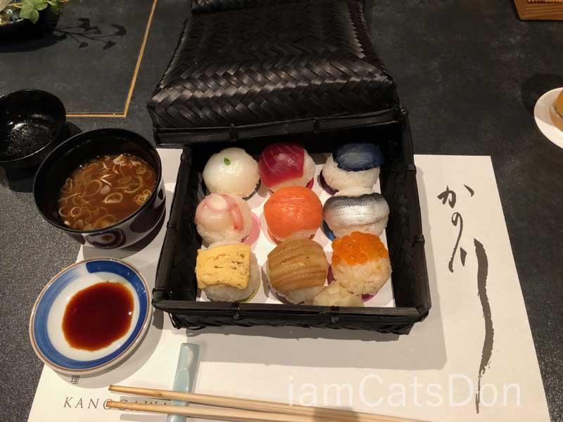 リバーサイドホテル 九つ星夢御膳料理 九つ星の玉手箱 手毬寿司