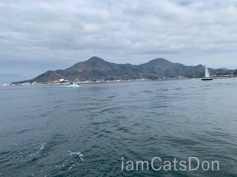 淡島 連絡船からの風景