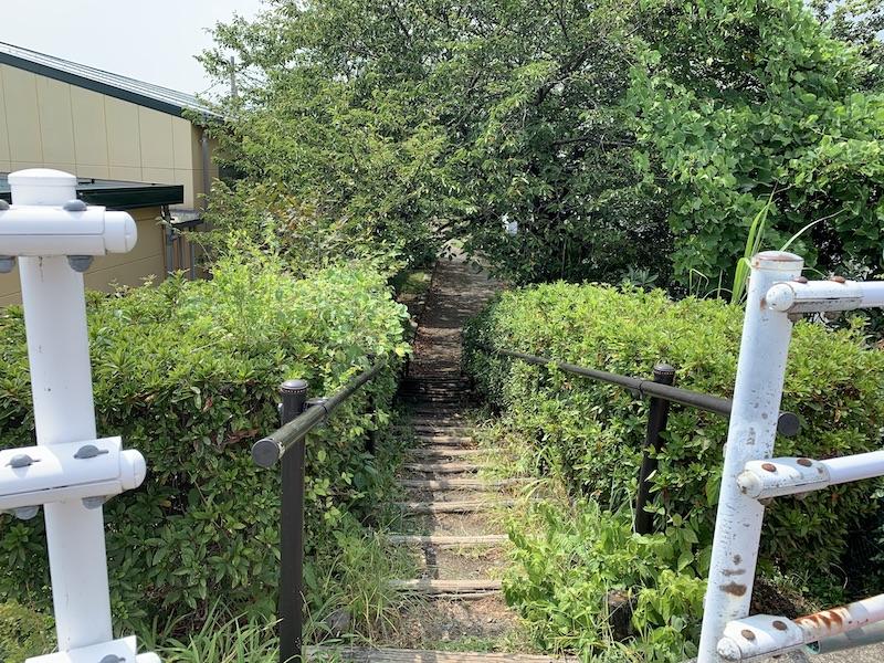 蛇松緑道 沼津 スタート階段上から