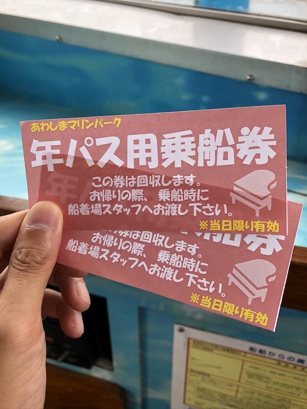 2020年 梨子ちゃん ルビーちゃん 誕生日 パネル 淡島 あわしま 年間パス乗船券