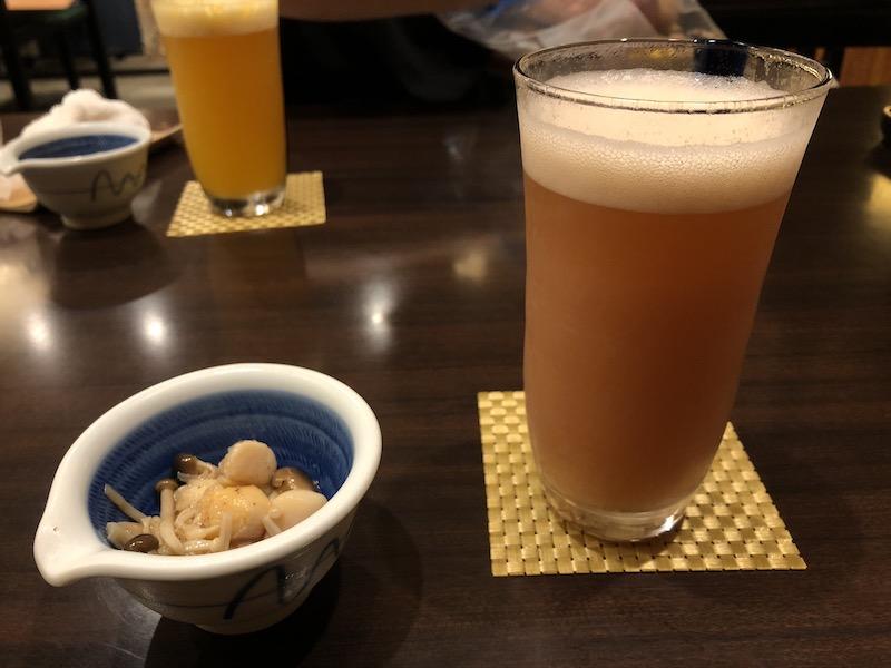 さかなや千本一 フルーツ酒とビールのカクテル いちご