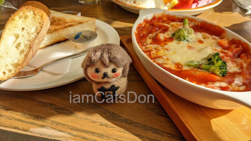 欧蘭陀館 下河原店 ラブライブ!サンシャイン!! 渡辺曜 曜ちゃん家 トマトのペンネグラタン パンのセット