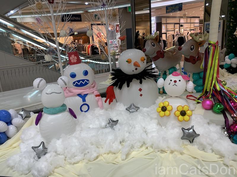 イシバシプラザ 沼津 リコー通り クリスマスディスプレイ Aqours 寝そべり デュオコレクション2 雪だるま