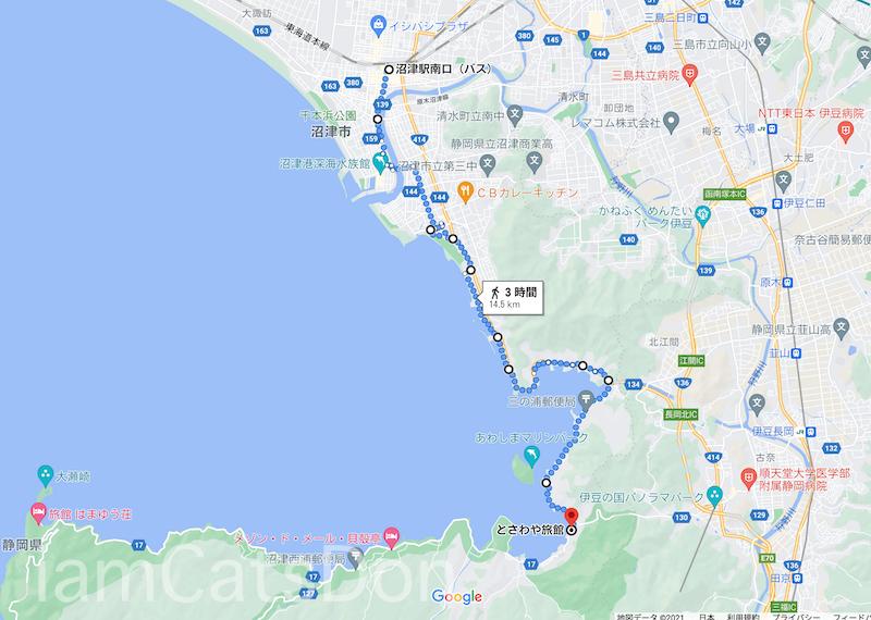 内浦から沼津駅まで歩いてみた道