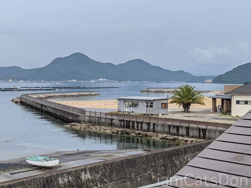 駿陽荘 やま弥 部屋から見える らららサンビーチ 沼津 西浦