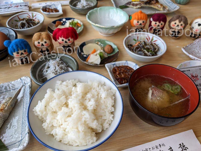 駿陽荘 やま弥 宿泊 朝食 ごはんと汁物 沼津 西浦