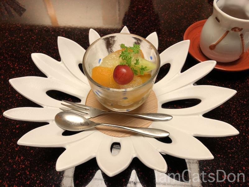 松濤館 沼津 三津浜1泊2食付 おもてなし料理プラン 基本コース 20190601-02 夕食 デザート フルーツ