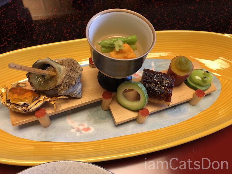 松濤館 沼津 三津浜1泊2食付 おもてなし料理プラン 基本コース 20190601-02 夕食 前菜アップ