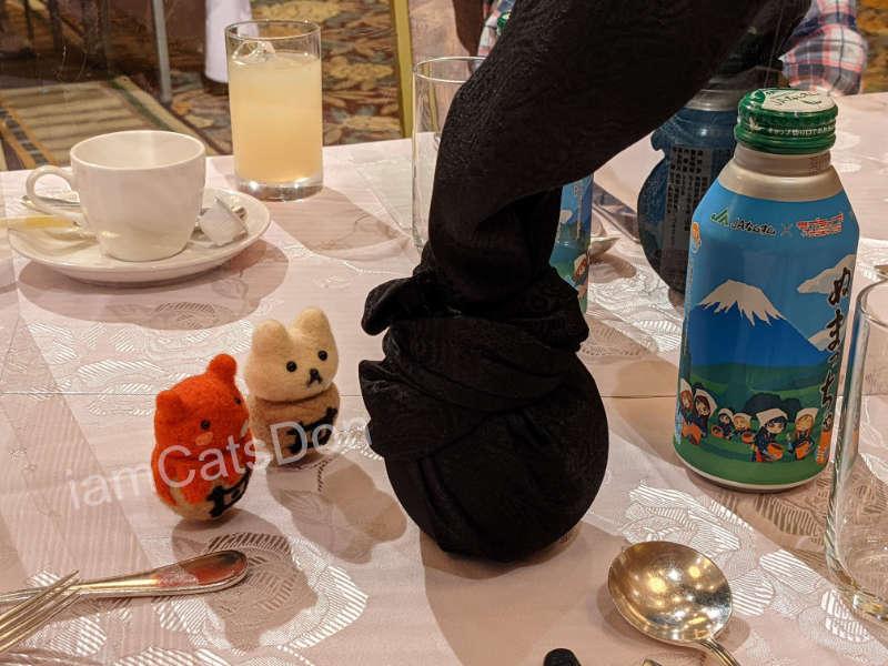 リバーサイドホテル 沼津 2021ヨハネバースデー記念スペシャルディナー 津島善子 テーブルナプキン ぬまづおみやげGETキャンペーン ミネラルウォーター ぬまっ茶