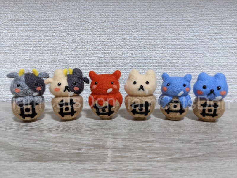 羊毛フェルト かっつ丼 うんちゃん丼 丼ちゃんシリーズ