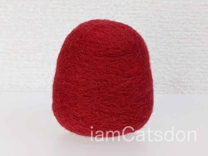 羊毛フェルト ダルマ 完成例(背面)