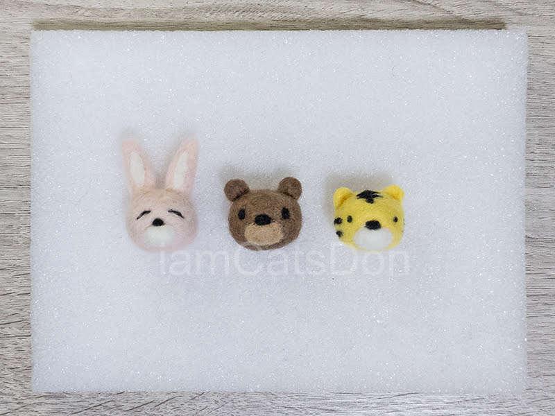 かっつ丼&うんちゃんのニードルフェルトレッスン基本2 フェルトボールからウサギさん クマさん トラさん